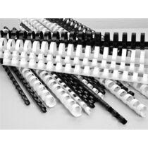 Spirál, műanyag, 10 mm, 41-55 lap, VICTORIA, fehér 100db