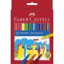 Filctoll készlet, FABER-CASTELL, 12 különböző szín