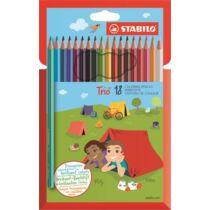 """Színes ceruza készlet, háromszögletű, STABILO """"Trio"""", 18 különböző szín"""