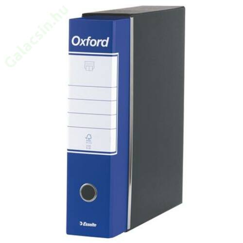 """Tokos iratrendező, 80 mm, A4, karton, ESSELTE """"Oxford"""", kék"""