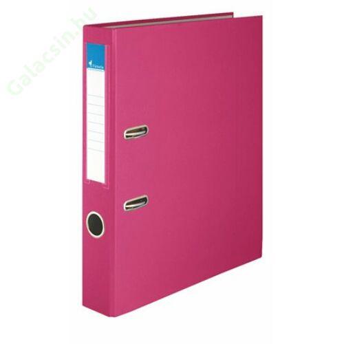 """Iratrendező, 50 mm, A4, PP/karton, VICTORIA, """"Basic"""", rózsaszín"""