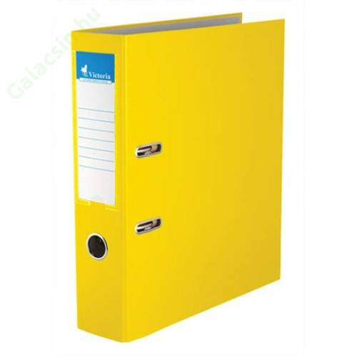 "Iratrendező, 75 mm, A4, PP/karton, VICTORIA, ""Basic"", sárga"