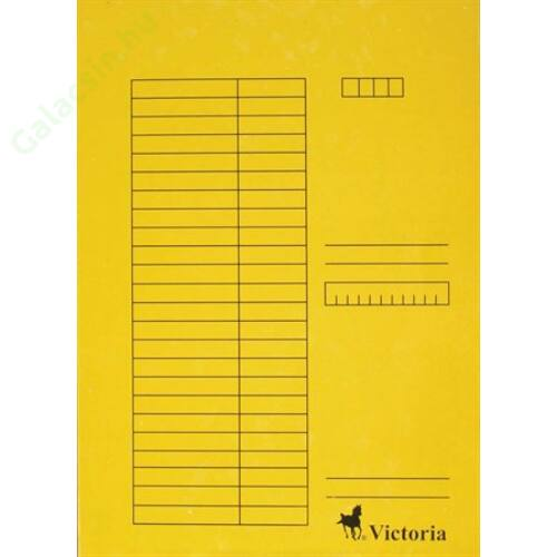 Gyorsfűző, karton, A4, VICTORIA, sárga 5db