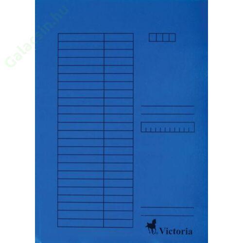 Gyorsfűző, karton, A4, VICTORIA, kék 5db