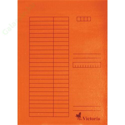 Gyorsfűző, karton, A4, VICTORIA, narancs 5db