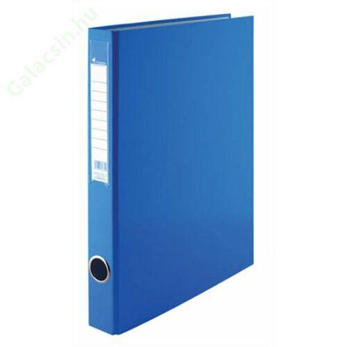Gyűrűs könyv, 2 gyűrű, 35 mm, A4, PP/karton, VICTORIA, kék
