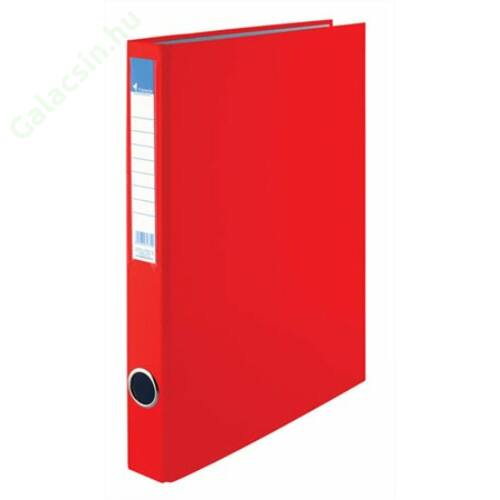 Gyűrűs könyv, 4 gyűrű, 35 mm, A4, PP/karton, VICTORIA, piros