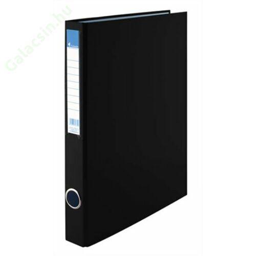 Gyűrűs könyv, 4 gyűrű, 35 mm, A4, PP/karton, VICTORIA, fekete