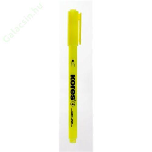 Szövegkiemelő, 0,5-3,5 mm, KORES, sárga
