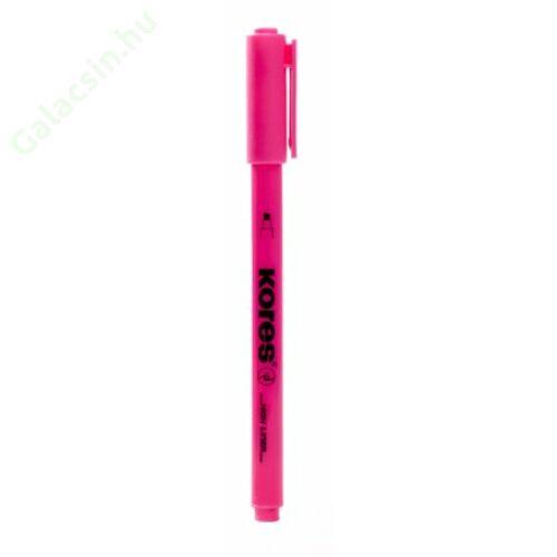 Szövegkiemelő, 0,5-3,5 mm, KORES, rózsaszín