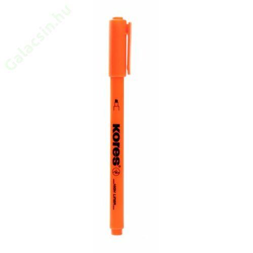 Szövegkiemelő, 0,5-3,5 mm, KORES, narancssárga