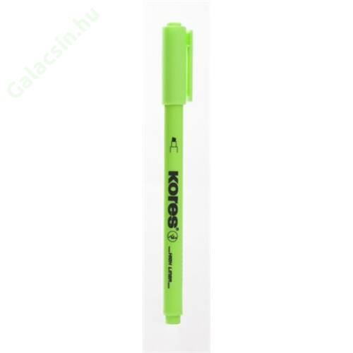 Szövegkiemelő, 0,5-3,5 mm, KORES, zöld