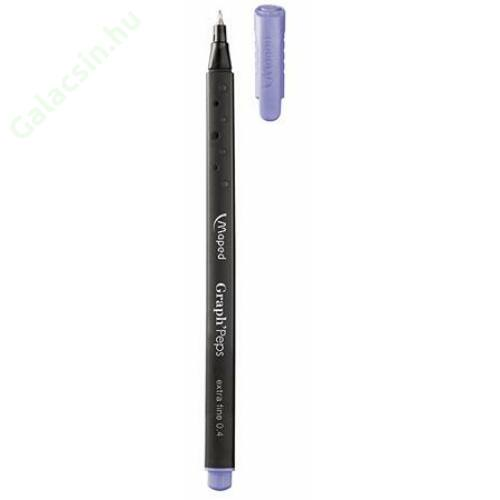 "Tűfilc, 0,4 mm, MAPED ""Graph`Peps"", világos lila"