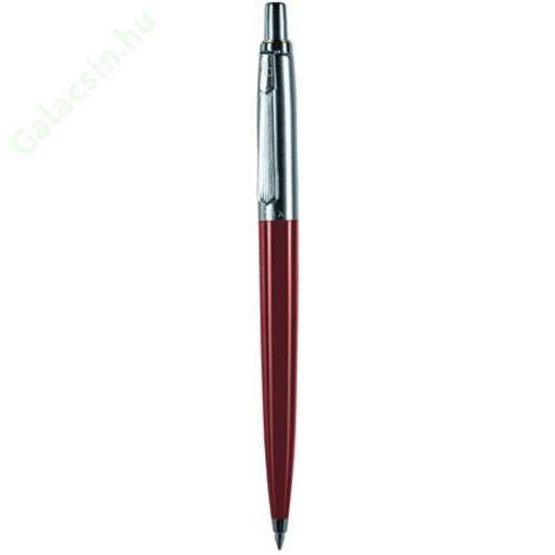 Golyóstoll, 0,8 mm, nyomógombos, dobozban, bordó tolltest, PAX, kék
