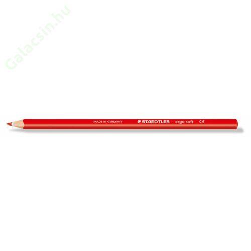 """Színes ceruza, háromszögletű, STAEDTLER """"Ergo Soft"""", piros"""