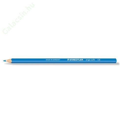 "Színes ceruza, háromszögletű, STAEDTLER ""Ergo Soft"", ciánkék"