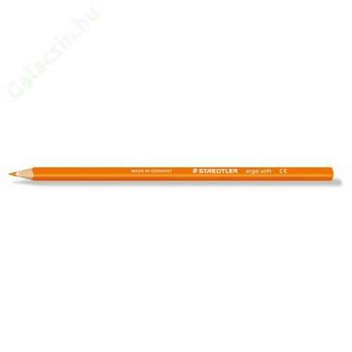"""Színes ceruza, háromszögletű, STAEDTLER """"Ergo Soft"""", narancssárga"""