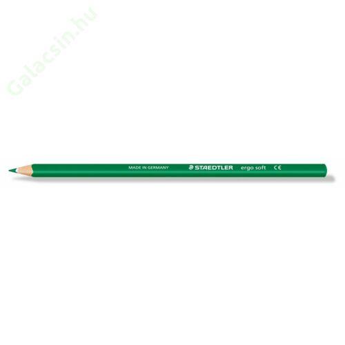 "Színes ceruza, háromszögletű, STAEDTLER ""Ergo Soft"", zöld"