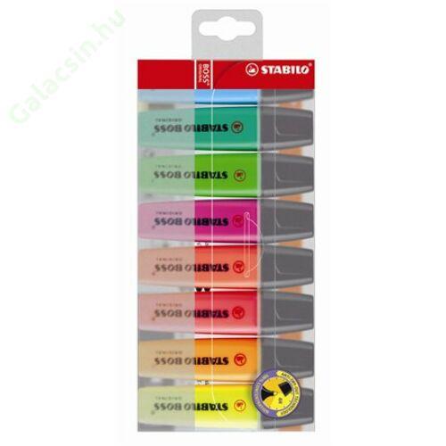 """Szövegkiemelő készlet, 2-5 mm, STABILO """"Boss"""", 8 különböző szín"""