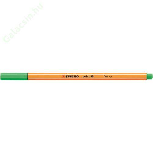 "Tűfilc, 0,4 mm, STABILO ""Point 88"", világos smaragd"