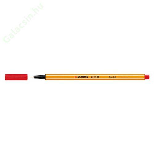 "Tűfilc, 0,4 mm, STABILO ""Point 88"", piros"