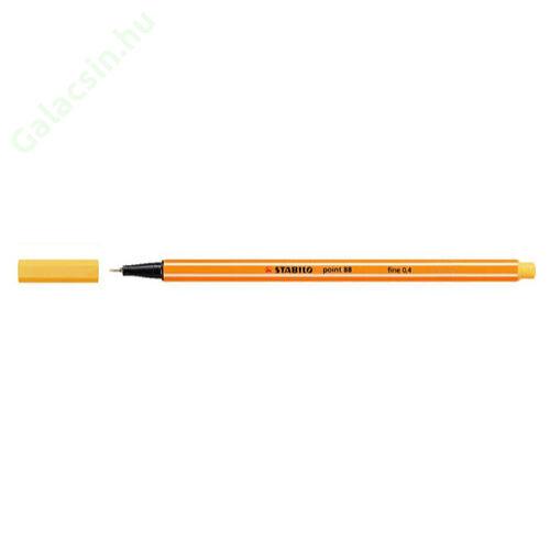 """Tűfilc, 0,4 mm, STABILO """"Point 88"""", sárga"""