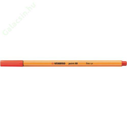"Tűfilc, 0,4 mm, STABILO ""Point 88"", világos piros"