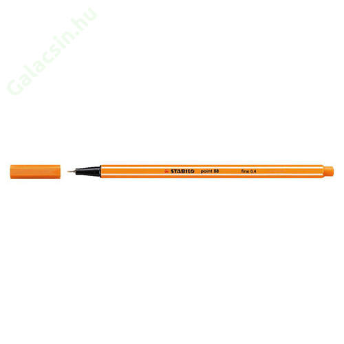"Tűfilc, 0,4 mm, STABILO ""Point 88"", narancssárga"