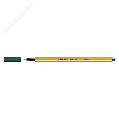 "Tűfilc, 0,4 mm, STABILO ""Point 88"", sötétzöld"